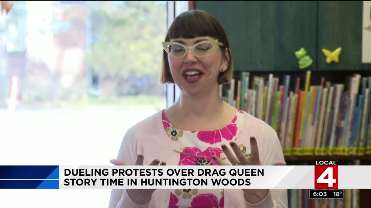 Drag Queen story time draws protestors