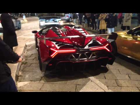 LAMBORGHINI VENENO ROADSTER Start Up Acceleration LOUD Sound