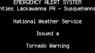 EAS: NEPA Tornado Warning (WITH ACTUAL NWS AUDIO)