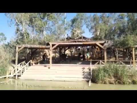 The place where Jesus was baptized (Qasr el Yahud), near Jericho. Tour Guide: Zahi Shaked
