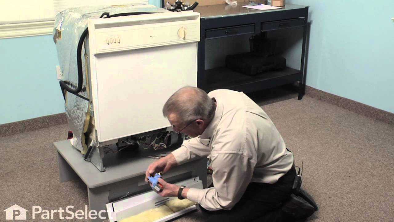 dishwasher repair replacing the water inlet valve whirlpool part 99001359 youtube [ 1280 x 720 Pixel ]