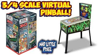 A 3/4 Scale Virtual Pinball Machine With 12 Games! Like An Arcade1UP!