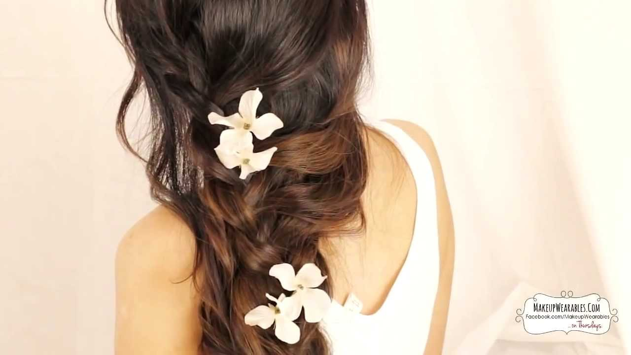 cute cascading curls braids hairstyles