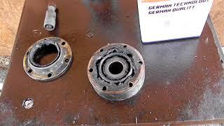 как правильно установить внутренний шрус Volkswagen Golf III