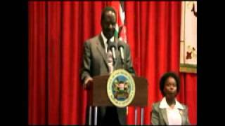 Prime Minister Raila Odinga speaking at Strathmore University Nairobi Keny