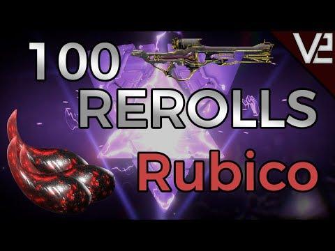 Warframe - 100 Rerolls: Rubico  [RUBICO PRIME RIVEN] thumbnail