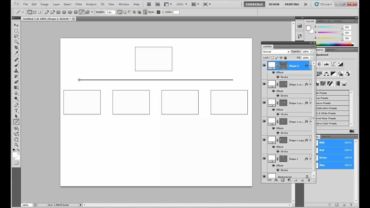 Creating a flowchart in photoshop youtube creating a flowchart in photoshop ccuart Choice Image
