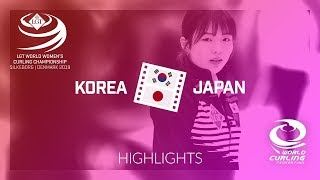 HIGHLIGHTS: Korea v Japan - round robin - LGT World Women's Curling Championship 2019