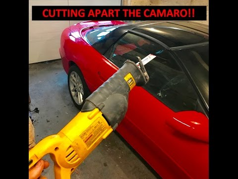 Cutting Apart the Camaro SS!! | Trap Door Mod