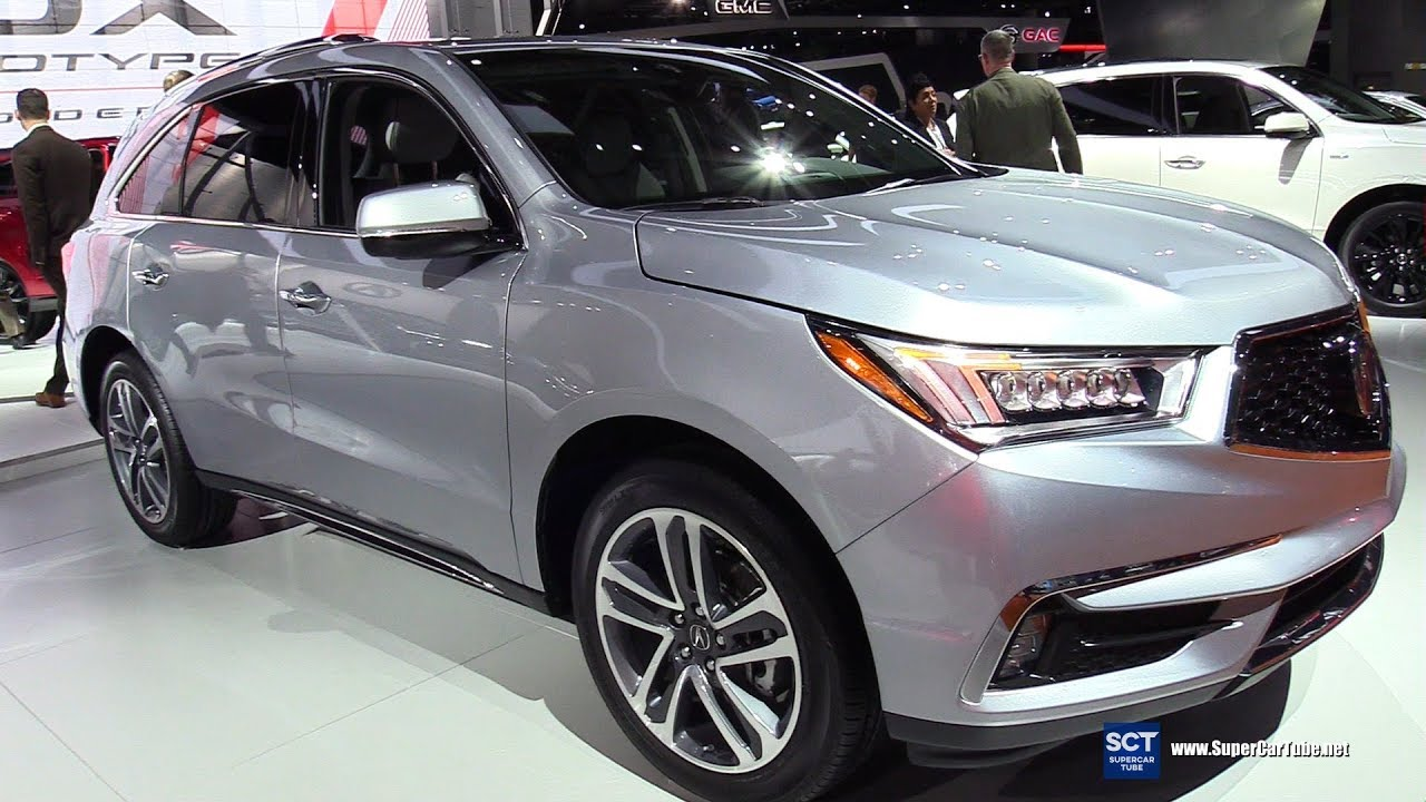 2018 acura mdx sh awd  exterior and interior walkaround
