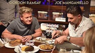 Джо Манганьелло в гостях у Гордона Рамзи отгадывает названия блюд