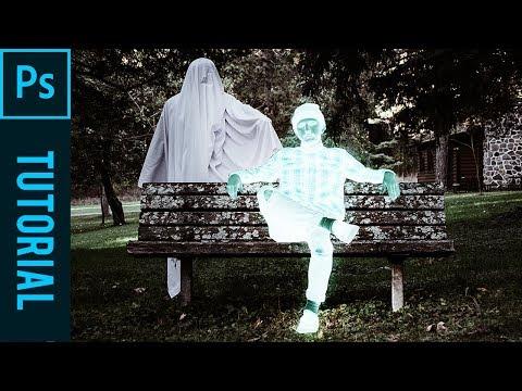 Ghost Halloween Xray Effect - Tutorial Photoshop CC 2019