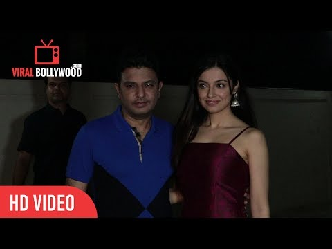 Bhushan Kumar and Divya Khosla Kumar at Mubarakan Special Screening   Viralbollywood