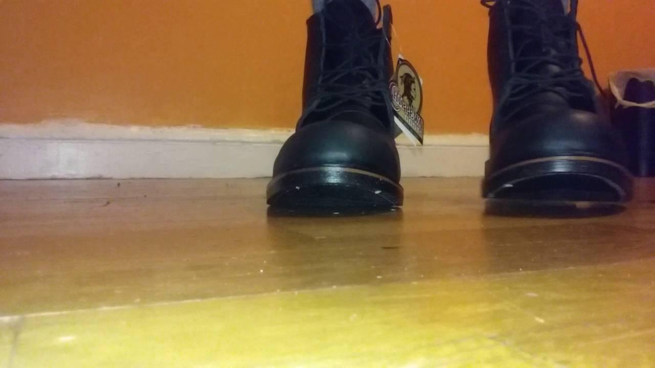 8b0c35eb9e3 Black odessa LL Bean Katahdin Iron Work Engineer boot on feet