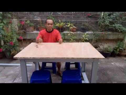 Membuat Meja Cafe dengan Baja Ringan