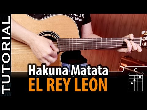 How To Play Hakuna Matata On Guitar Chords Easy guitar lesson