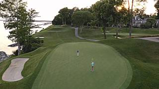 Aerial View of the 17th Hole on the River Course