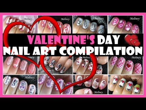 VALENTINE'S DAY NAIL ART COMPILATION | MELINEY DESIGNS
