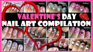 valentine s day nail art compilation   meliney designs