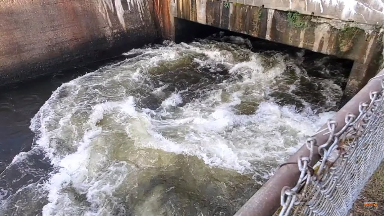 Giant Whirlpool Coming Out Of Hydro Dam Discharge