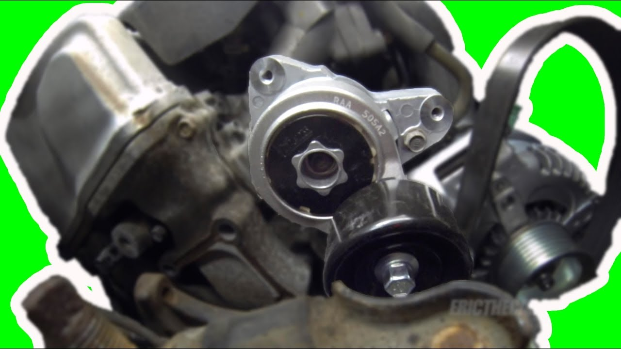 small resolution of how to replace a honda k series serpentine belt tensioner