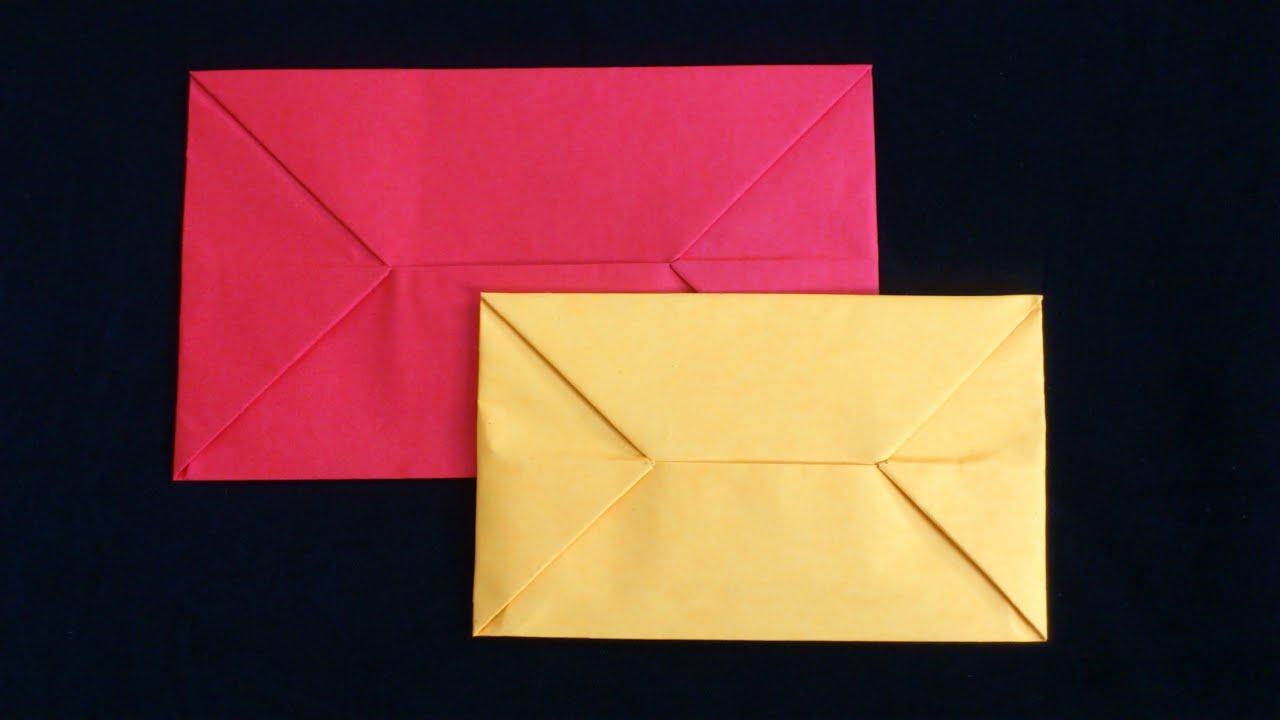 Cara Membuat Origami Amplop | Origami Alat - YouTube
