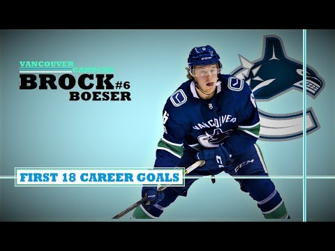 Brock Boeser (#6) ● First 14 Goals 2017-18 Season + First 4 Career Goals (HD)