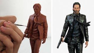 Sculpting JOHN WICK | Keanu Reeves - Timelapse