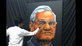 A live art Tribute to Atal Bihari Vajpayee Ji