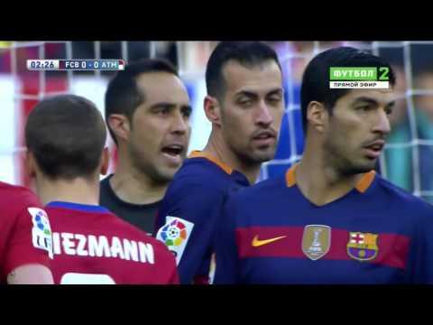 Полный матч Барселона   Атлетико Мадрид от 30 01 2016, 22 тур Ла Лиги