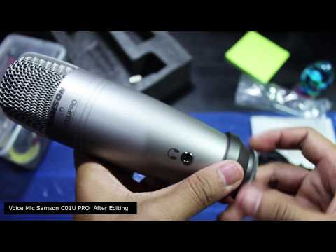 Mic Samson C01U PRO Review recording (unboxing + Setting + Review) Mic content creator