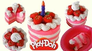 Play Doh Strawberry Ice Cream Birthday Cake