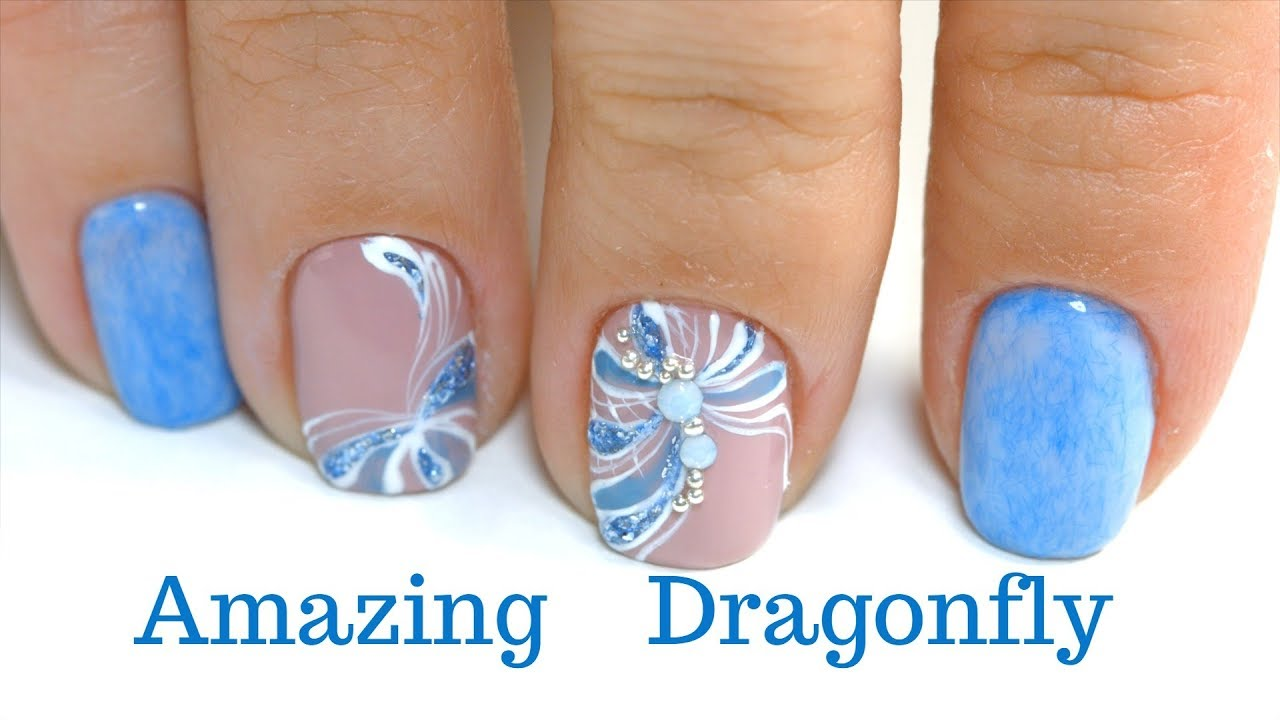 Amazing Dragonfly Nail Design Tutorial