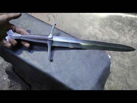 Forging a knightly dagger.