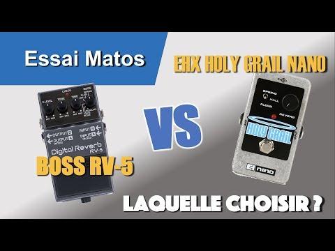 Boss RV5 Digital Reverb vs EHX Holy Grail Nano