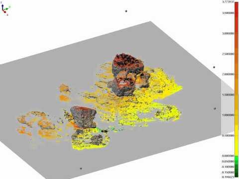 Huge block deposits scanned with LiDAR