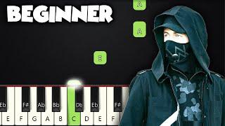 Faded - Alan Walker   BEGINNER PIANO TUTORIAL + SHEET MUSIC by Betacustic