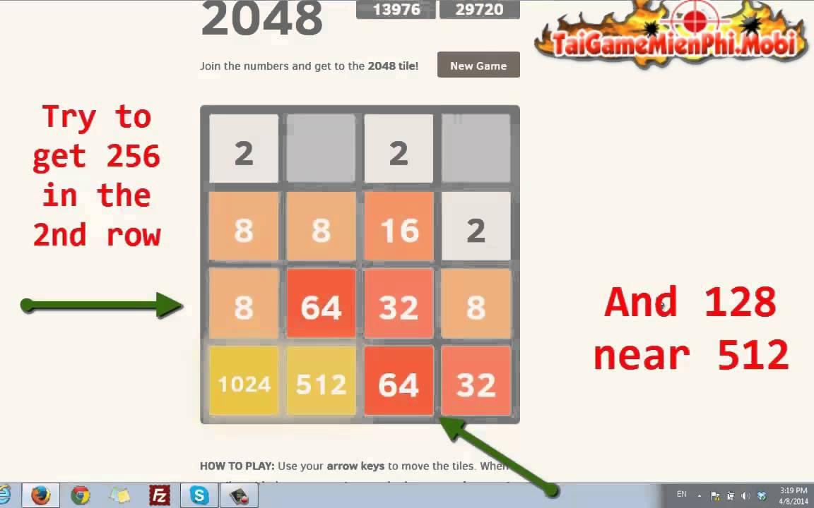 Bí Quyết Phá Đảo Cho Game Thủ Chơi Game 2048