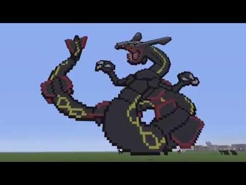 Shiny Rayquaza Minecraft Pixel Art