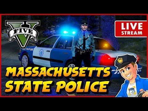 Massachusetts State Police GTA 5 LSPDFR STATE PATROL Realistic Police Patrol Mod