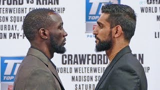 Terence Crawford vs. Amir Khan * OFFICIAL FACE OFF * NYC | Top Rank Boxing