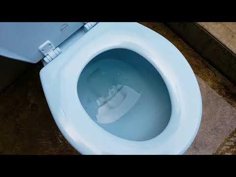 Part 1/2 DRESDEN BLUE Rare 1957 Blue Universal Rundle Toilet