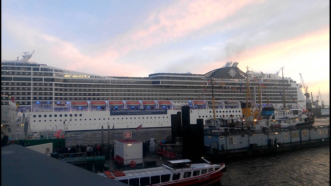 Cruise Ship Song Seven Nation Army MSC Magnifica Hafenfest - Best cruise ship songs