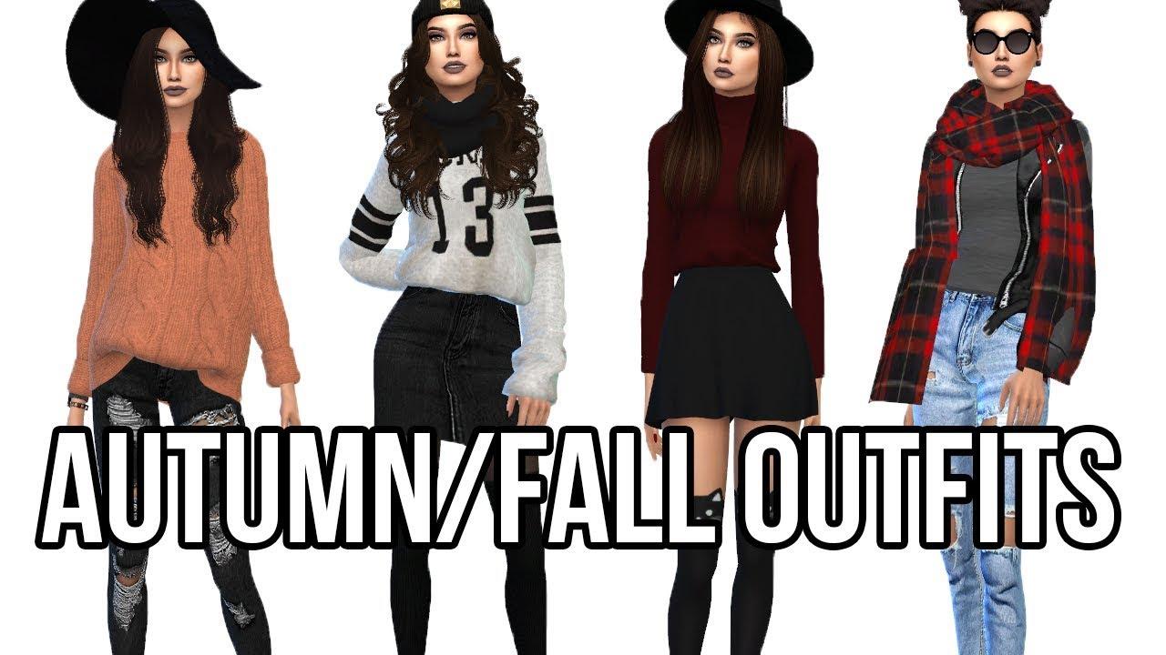 [VIDEO] - The Sims 4: Create A Sim || Autumn/Fall Outfits 6