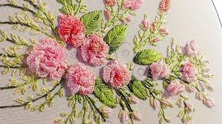 Brazilian Embroidery: cast on stitch 🌸 Бразильская Вышивка