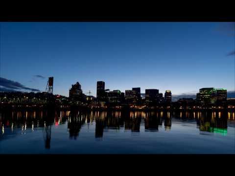 Portland City Skyline Time Lapse