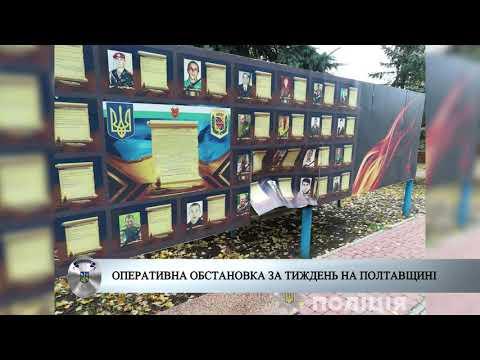 Поліція Полтавщини: Оперативна обстановка за тиждень на Полтавщині 14-10-19