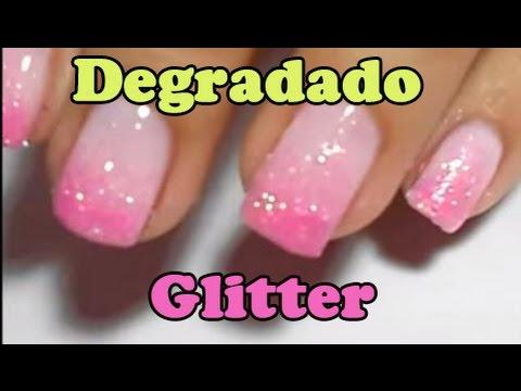 Degradado De Uñas Con Purpurina Glitter Fácil Para Principiantes