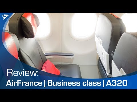 Air France business class A320 - with sunset