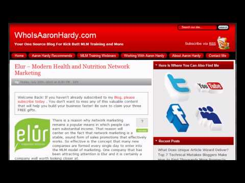 Elur - Modern Health and Nutrition Network Marketing - Expert Article Review